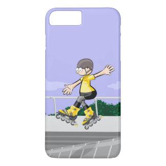 Funda Para iPhone 8 Plus/7 Plus Patín sobre ruedas niño bailando en la rampa