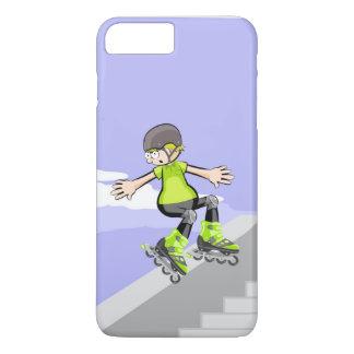 Funda Para iPhone 8 Plus/7 Plus Patín sobre ruedas niño bajando por un muro