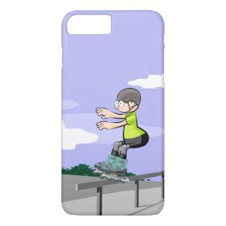 Funda Para iPhone 8 Plus/7 Plus Patín sobre ruedas niño haciendo equilibrio
