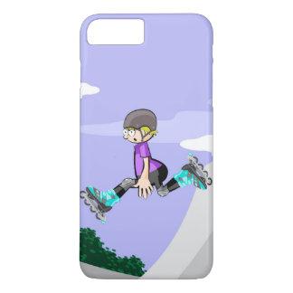 Funda Para iPhone 8 Plus/7 Plus Patín sobre ruedas niño saltando con destreza