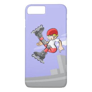 Funda Para iPhone 8 Plus/7 Plus Patín sobre ruedas niño saltando con mucho estilo