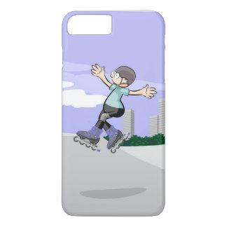 Funda Para iPhone 8 Plus/7 Plus Patín sobre ruedas niño saltando en la rampa