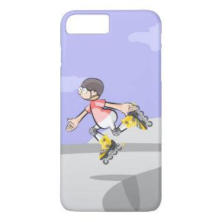 Funda Para iPhone 8 Plus/7 Plus Patín sobre ruedas niño saltando en un pie