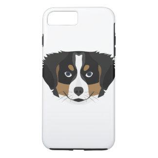 Funda Para iPhone 8 Plus/7 Plus Perro de montaña de Bernese del ilustracion