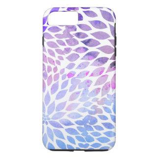 Funda Para iPhone 8 Plus/7 Plus Pétalos florales de la acuarela elegante púrpuras