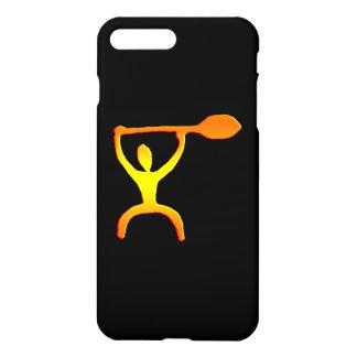 Funda Para iPhone 8 Plus/7 Plus Petroglifo hawaiano del hombre de la paleta