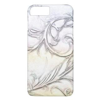 Funda Para iPhone 8 Plus/7 Plus Piedra preciosa tallada simulada marfil elegante