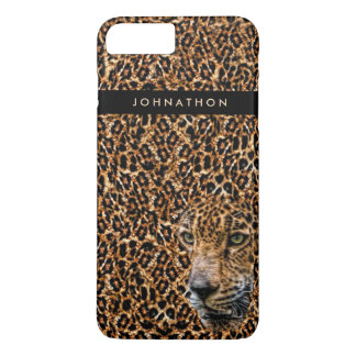Funda Para iPhone 8 Plus/7 Plus Piel masculina del leopardo de Brown con el gato