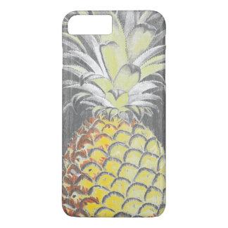 Funda Para iPhone 8 Plus/7 Plus Pinneapple amarillo tropical en gris