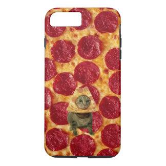 Funda Para iPhone 8 Plus/7 Plus Pizza de salchichones y gato locos de la pizza