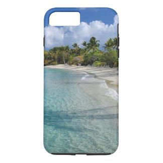 Funda Para iPhone 8 Plus/7 Plus Playa tropical, agua de la turquesa, palmeras