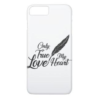Funda Para iPhone 8 Plus/7 Plus Pluma verdadera del amor del ilustracion