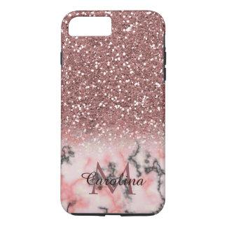 Funda Para iPhone 8 Plus/7 Plus Purpurina color de rosa del rosa del oro, mármol,