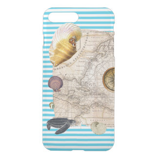 Funda Para iPhone 8 Plus/7 Plus Rayas azules del tesoro marino