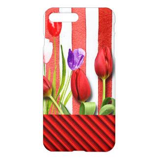 Funda Para iPhone 8 Plus/7 Plus Rayas rojas y blancas con Tuplis