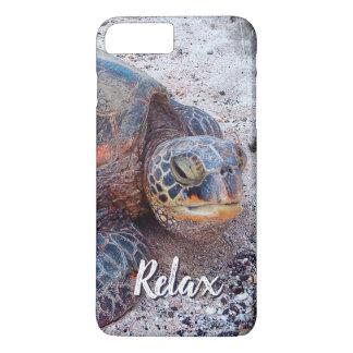 """Funda Para iPhone 8 Plus/7 Plus """"Relaje"""" la foto del primer de la tortuga de mar"""