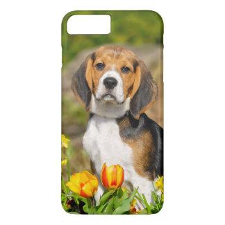 Funda Para iPhone 8 Plus/7 Plus Retrato lindo del perrito tricolor del beagle,