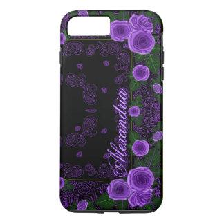 Funda Para iPhone 8 Plus/7 Plus Rosas de la frambuesa y plantilla conocida del