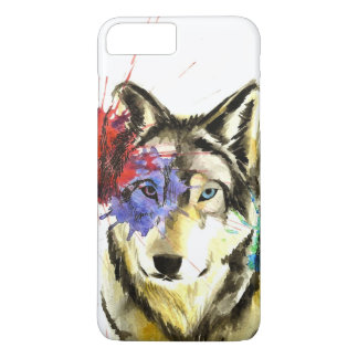 Funda Para iPhone 8 Plus/7 Plus Salpicadura del lobo