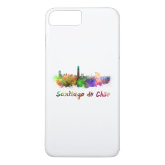 Funda Para iPhone 8 Plus/7 Plus Santiago de Chile skyline in watercolor