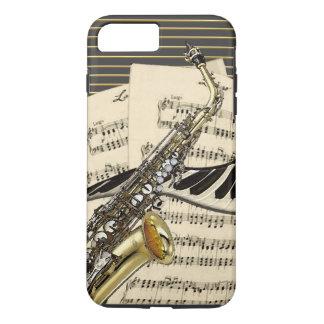 Funda Para iPhone 8 Plus/7 Plus Saxofón y música del piano
