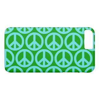 Funda Para iPhone 8 Plus/7 Plus Signos de la paz de la turquesa