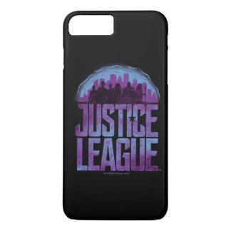Funda Para iPhone 8 Plus/7 Plus Silueta de la ciudad de la liga de justicia de la