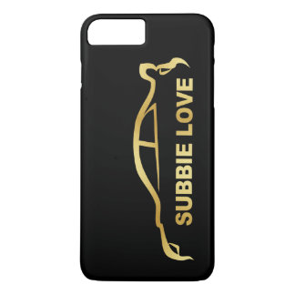 Funda Para iPhone 8 Plus/7 Plus Silueta del oro del amor de JDM Subby (STI de