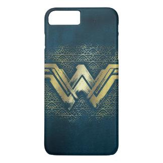 Funda Para iPhone 8 Plus/7 Plus Símbolo cepillado Mujer Maravilla del oro