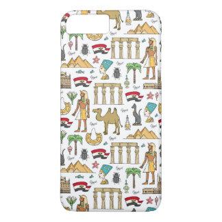 Funda Para iPhone 8 Plus/7 Plus Símbolos del color del modelo de Egipto