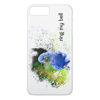 Funda Para iPhone 8 Plus/7 Plus SUENE MI loro azul del Macaw del jacinto de la