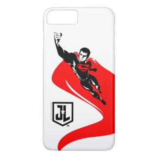 Funda Para iPhone 8 Plus/7 Plus Superhombre de la liga de justicia el | que vuela