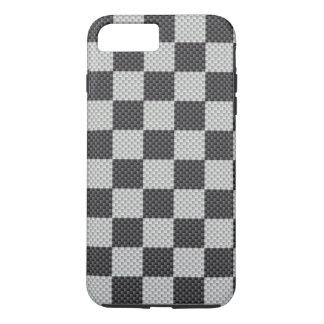 Funda Para iPhone 8 Plus/7 Plus Tablero negro y gris de la fibra de carbono