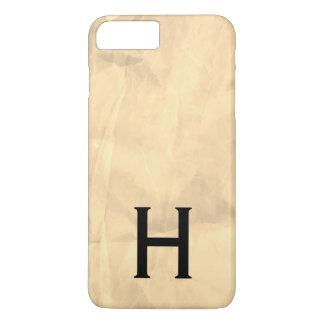 Funda Para iPhone 8 Plus/7 Plus Textura arrugada con el monograma