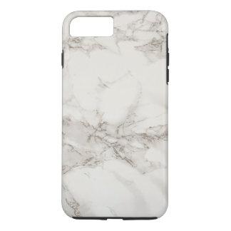 Funda Para iPhone 8 Plus/7 Plus Textura de mármol gris blanca simple personalizada