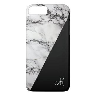 Funda Para iPhone 8 Plus/7 Plus Textura de piedra de mármol gris y negra