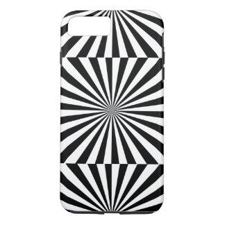 Funda Para iPhone 8 Plus/7 Plus ~ transparente de los RAYOS (un diseño negro y