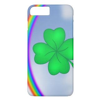 Funda Para iPhone 8 Plus/7 Plus Trébol De Cuatro Hojas con arcos iris
