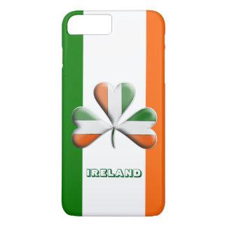 Funda Para iPhone 8 Plus/7 Plus Trébol temático colores irlandeses de la bandera