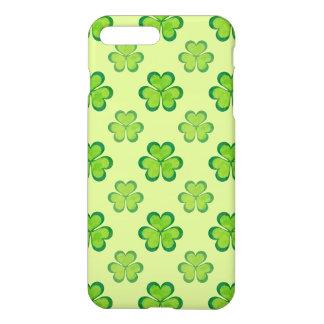 Funda Para iPhone 8 Plus/7 Plus Tréboles afortunados de los tréboles del verde del