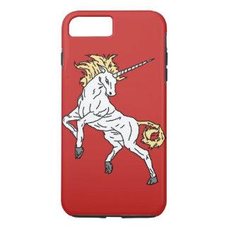 Funda Para iPhone 8 Plus/7 Plus Unicornio (rojo)