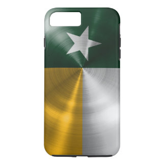 Funda Para iPhone 8 Plus/7 Plus Verde y parte radial de la bandera de Tejas del