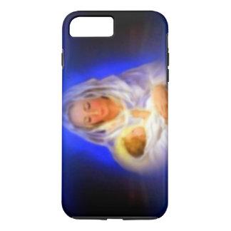 Funda Para iPhone 8 Plus/7 Plus Virgen María bendecido con halo en nubes
