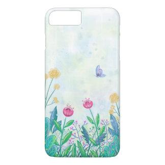 Funda Para iPhone 8 Plus/7 Plus watercolour iPhone7 de la flor y de la mariposa