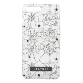 Funda Para iPhone 8 Plus/7 Plus Web de araña negro Halloween