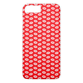 Funda Para iPhone 8 Plus/7 Plus WHite-lips-on-neon-red.png