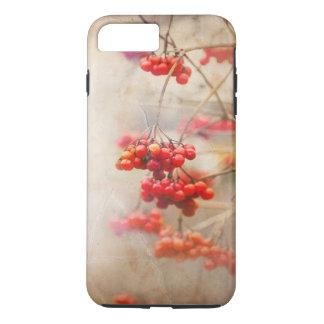 Funda Para iPhone 8 Plus/7 Plus Winterberry. Naturaleza roja del invierno de las