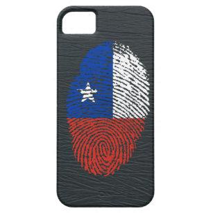 038f2e7e0b9 Funda Para iPhone SE/5/5s Bandera chilena de la huella dactilar del tacto