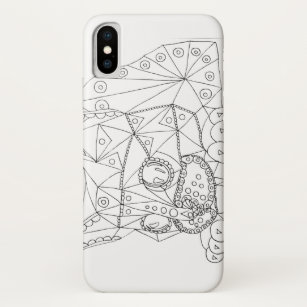 Funda Para Iphone X Dibujo Del Gato Plausible Para Colorear