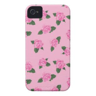 05a8417c80b Funda Para iPhone 4 De Case-Mate Fondo rosado de las flores rosadas  femeninas